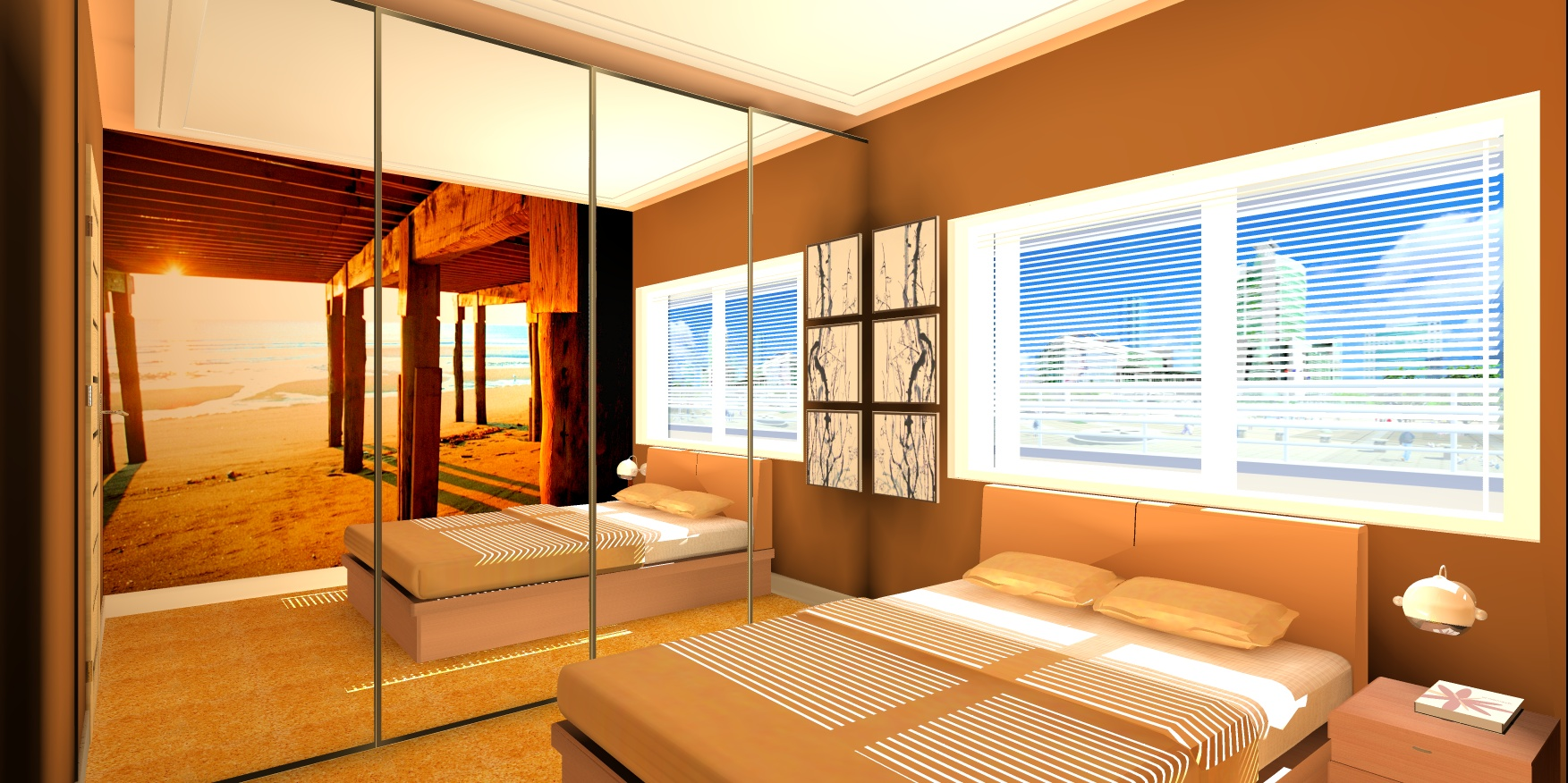 Sypialnia w małym mieszkaniu